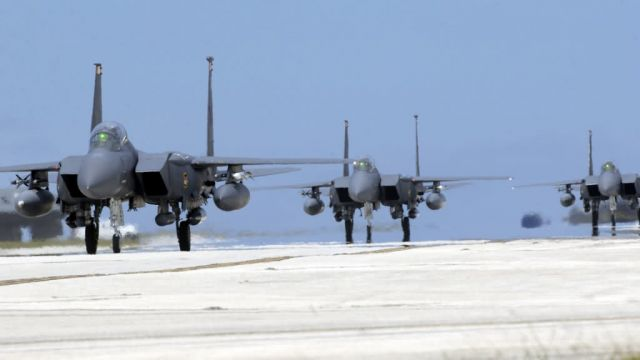 F-15E - Three taxi Picture