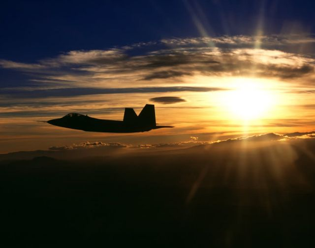 F/A-22 Raptor - Sunset Raptor Picture