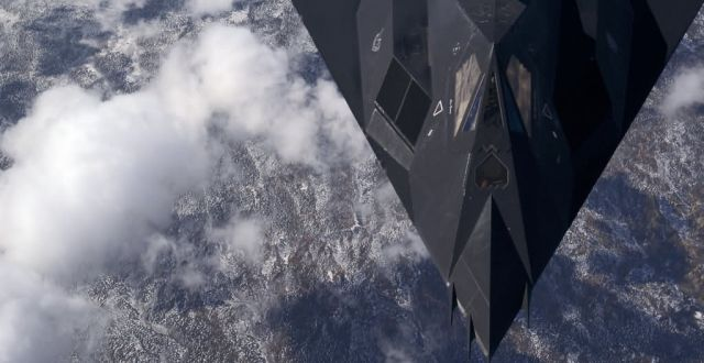 F-117A - High above the mountain top Picture