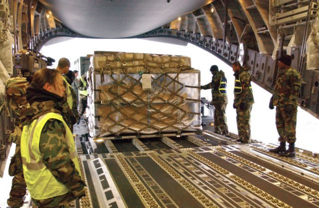 C-17 Globemaster III - Yokota Airmen keep steady pace in providing relief Picture
