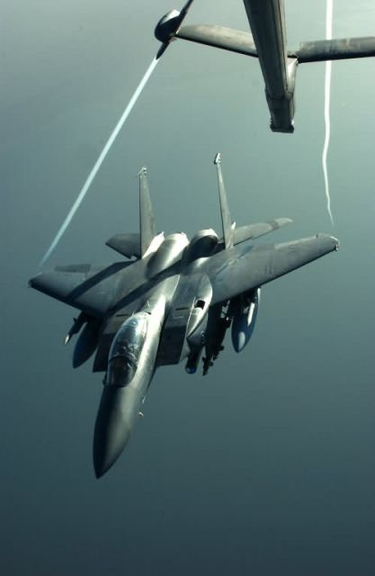 F-15E - Last stop for gas Picture