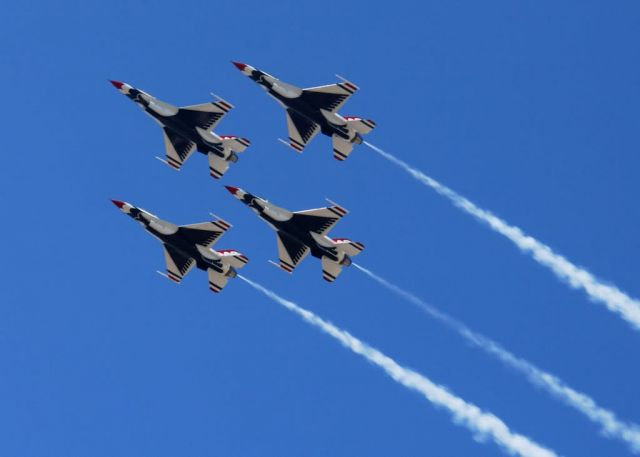 OVER ELLSWORTH AIR FORCE BASE - Thunderbirds in the sky Picture