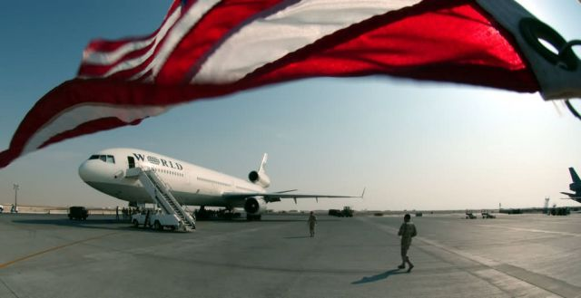 DC-10 rotator - Ol' Glory waving Picture