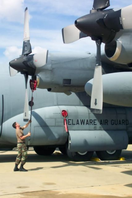 C-130 Hercules - Getting things into their prop-er place Picture