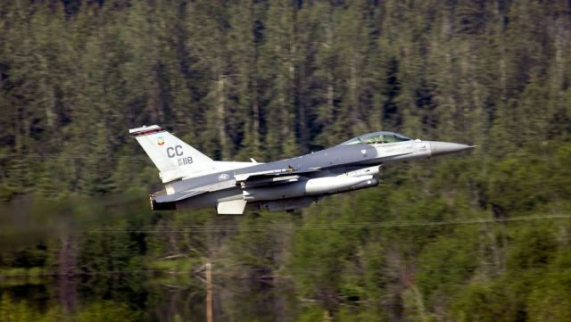 F-16C Fighting Falcon - Coping with thunder Picture