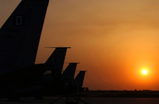 KC-135 Stratotankers - Tankers at sunset Picture