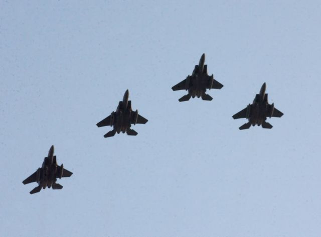 F-15E Strike Eagles - A tribute to President Reagan Picture