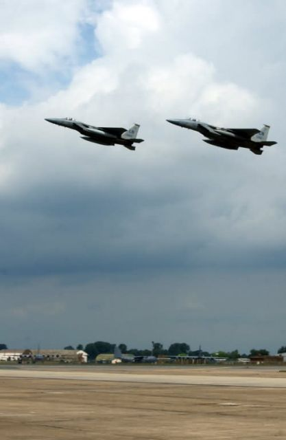 F-15C - Two eagles take flight Picture