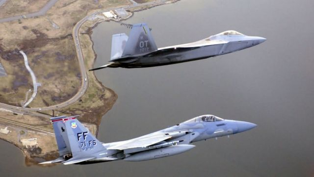 F/A-22 Raptor - An Eagle and Raptor Picture