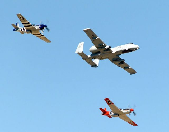 A-10 Thunderbolt II - P-51 Mustangs Picture