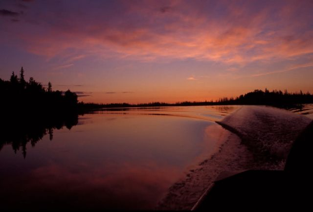 Sunset on the Innoko NWR Picture