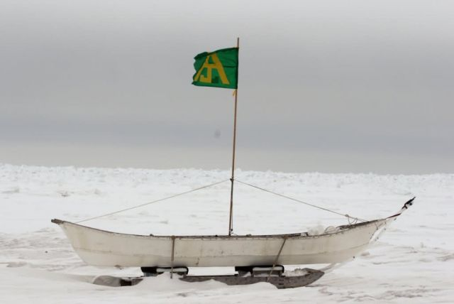 Bowhead Whaling Boat at Barrow, Alaska Picture