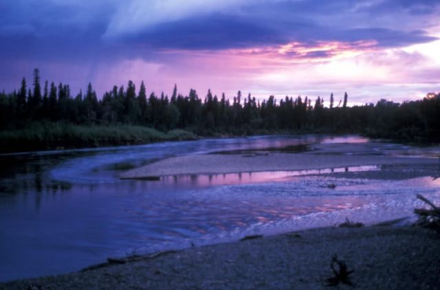 Aniak River Sunset Picture