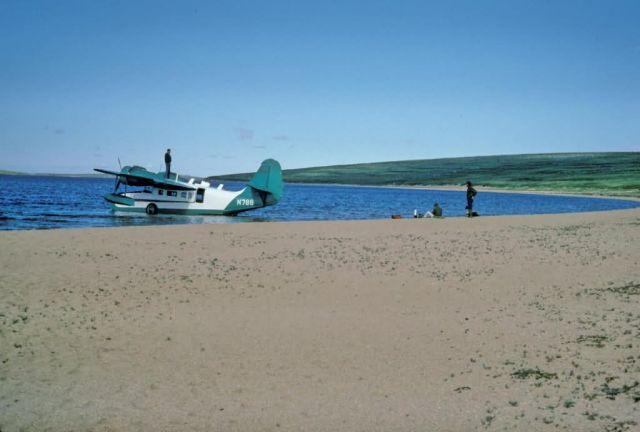 USFWS Grumman Goose Airplane on Imuruk Lake Picture