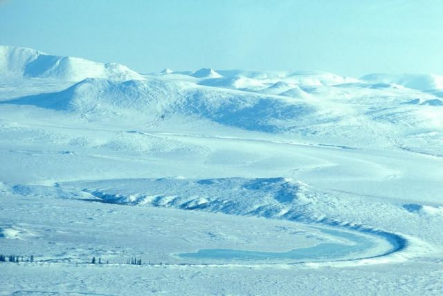 Noatak River in Winter - Aerial View Picture
