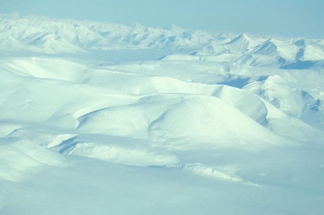 Snow Covered Noatak River - Aerial View Picture