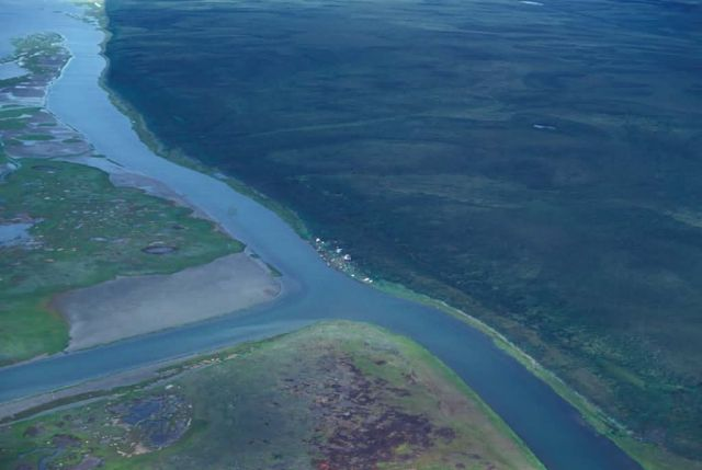 Noatak River Delta - Aerial View Picture