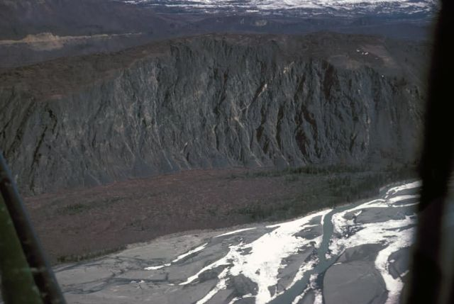Matanuska River and High River Bluff - Aerial View Picture