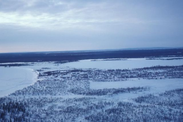 Huslia and Koyukuk River in Winter Picture