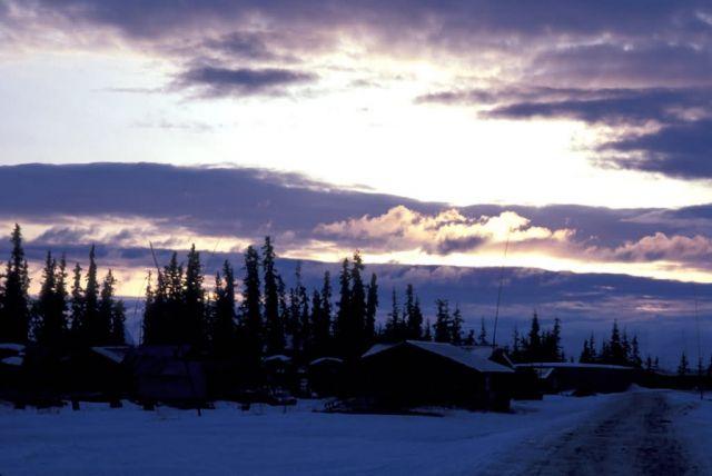 Allakaket Sunset Picture