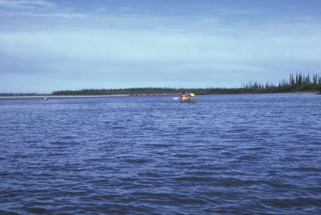 Canoeing at Mouth of Sheenjek River at the Porcupine River Picture