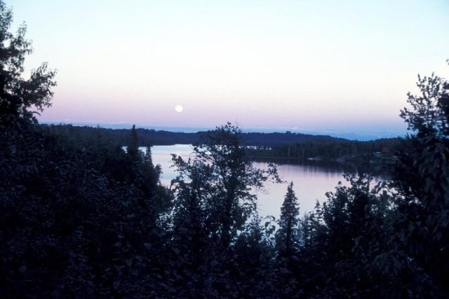 Full Moon over Nikiski Lake Picture