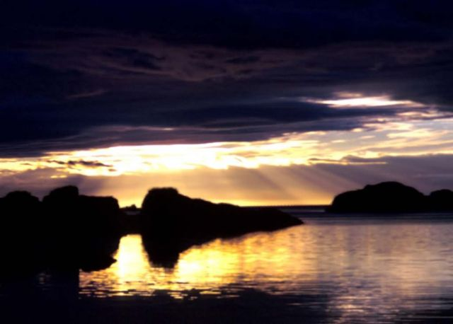 Sunset at Chief Cove, Kodiak NWR Picture