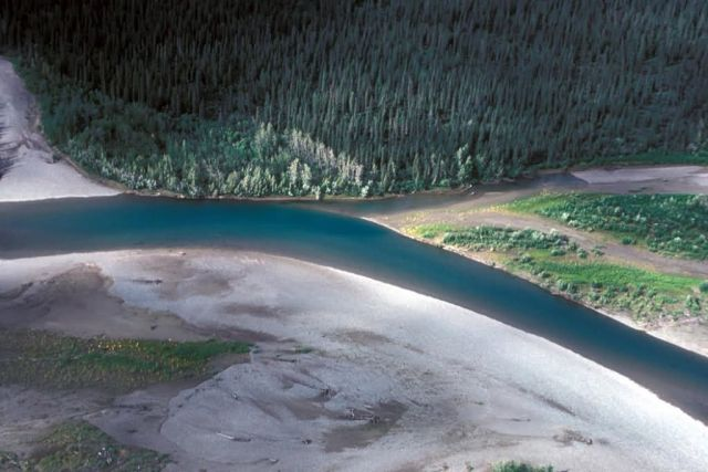 Noatak River Above Village - Aerial View Picture