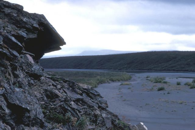 Rock Outcropping on the Noatak River Picture