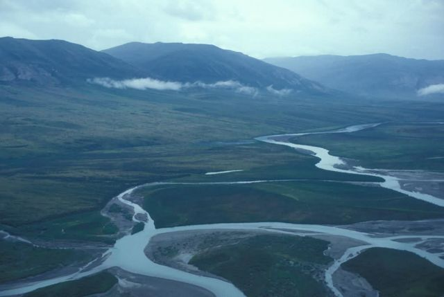Noatak River - Upper 3rd - Aerial View Picture
