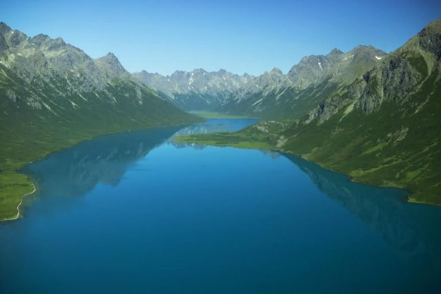 Lake in Glacial Valley Picture