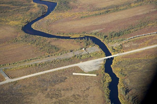 Kanuti River and Dalton Highway Picture