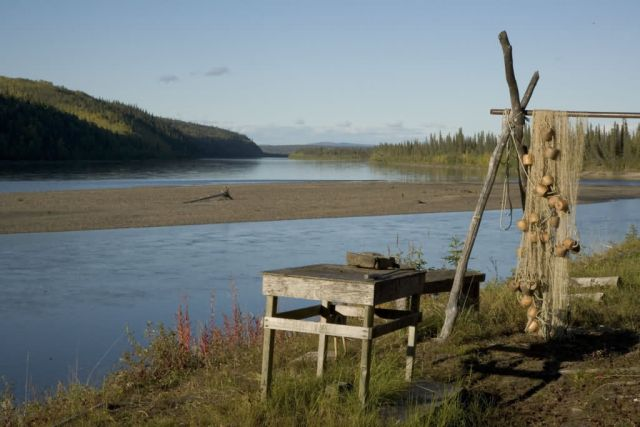 Subsistence fish camp on the Koyukuk River Picture