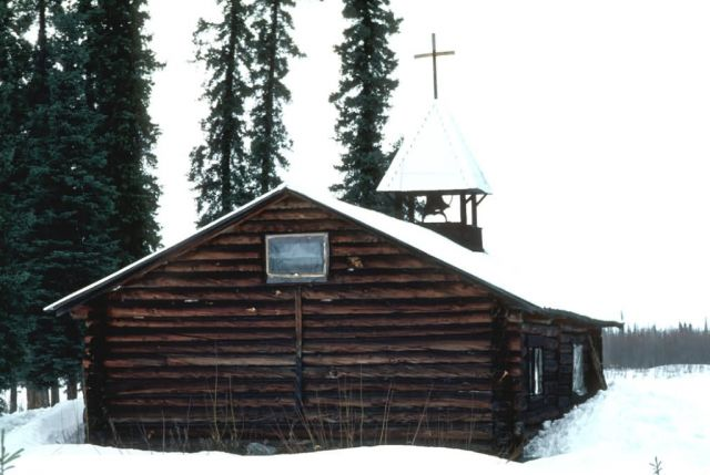 Allakaket Log Church Picture