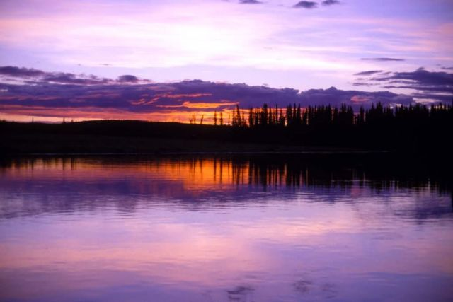 Nowitna River Sunset Picture
