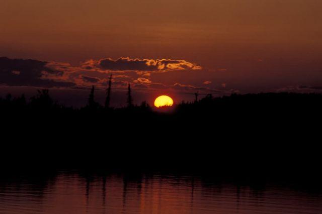 Innoko NWR Sunset Picture