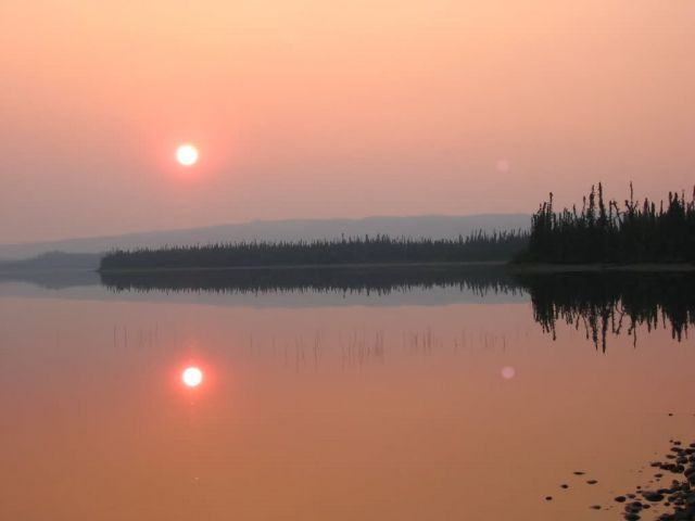 Wildfire Smoke Colors Sun Near Tetlin Refuge Picture
