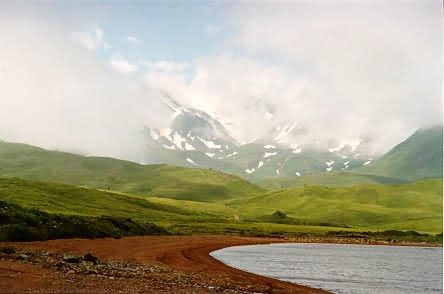 Adak Island and Mt. Moffett from Lake Andrew Picture
