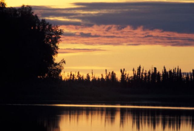 Innoko NWR Sunset Picture