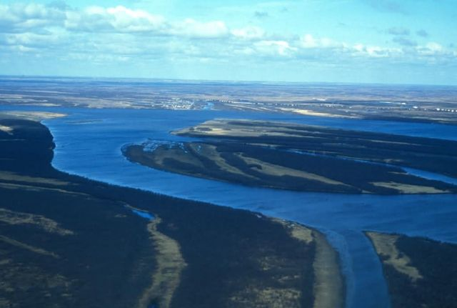 Aniak River Aerial View Picture