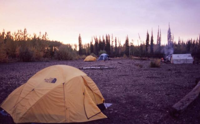 Camp along the Black River Picture