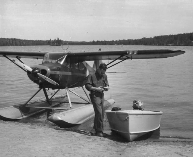 Agent Cross and Float Plane, Lake Louise Picture