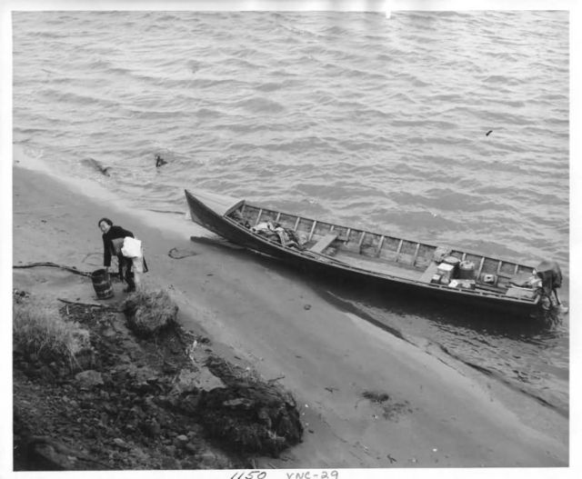 Bethel Woman and Boat Picture