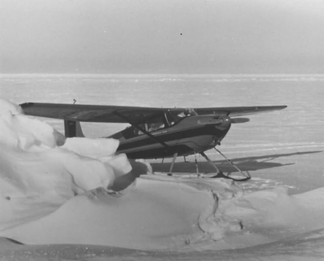 Small Airplane on Skis on Snow Picture