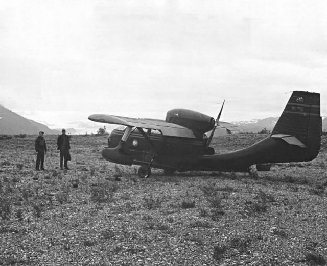 Seabee Airplane at Dry Bay near Yakutat, Southeast Alaska Picture
