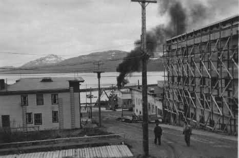 Fishing Boat Burns in Cordova Picture