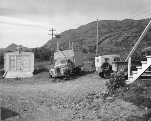 Garage and Yard at Kodiak Refuge Picture