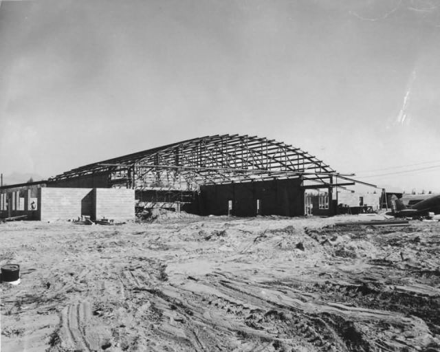Construction of Hangar at Lake Hood Picture