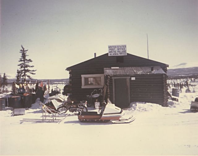 Arctic Village Post Office Picture