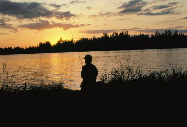 Fishing at Sunset Picture